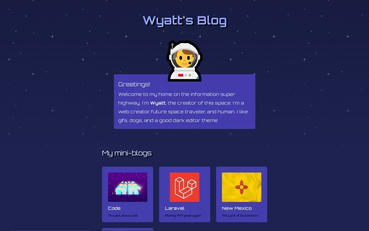 This is my space themed website design